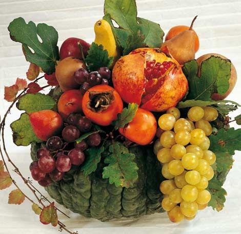 Nuove osterie d autunno puntarella rossa - Centrotavola autunnale ...