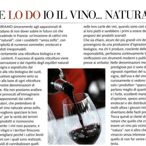 Bettane e Gambero vs vini naturali