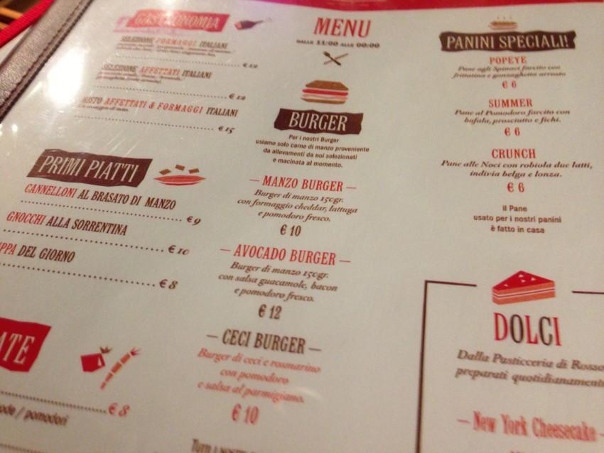 Rosso un nuovo ristorante all 39 aventino e con papageno e for Il rosso bologna menu