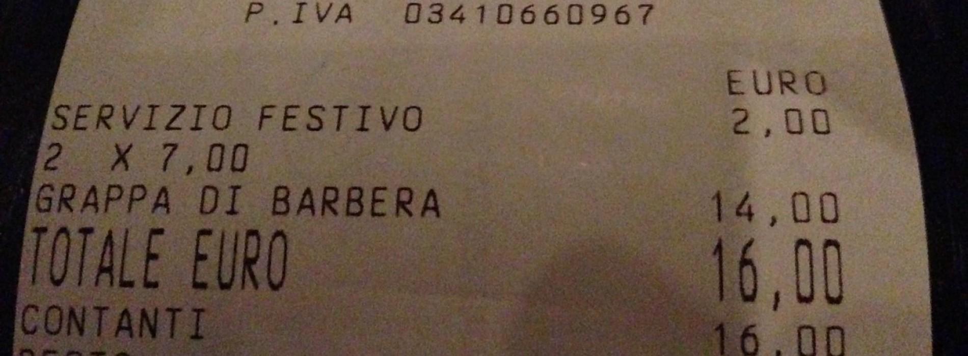 Servizio festivo, ora ai bar si paga una tassa aggiuntiva come con i taxi. Dove andremo a finire? (a casa, a sorseggiare acqua del rubinetto)