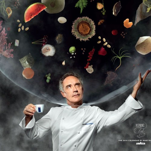 """Il 2014 è l'anno degli """"chef da parete"""": ecco il calendario Lavazza con Bottura, Cracco, Oldani e Canavacciuolo"""