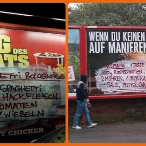 In Germania è guerriglia marketing contro il junk food
