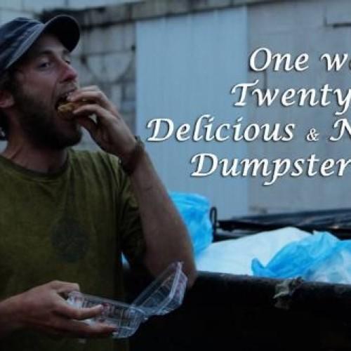 Per una settimana ha mangiato solo cibo dalla spazzatura: l'impresa di Rob Greenfield