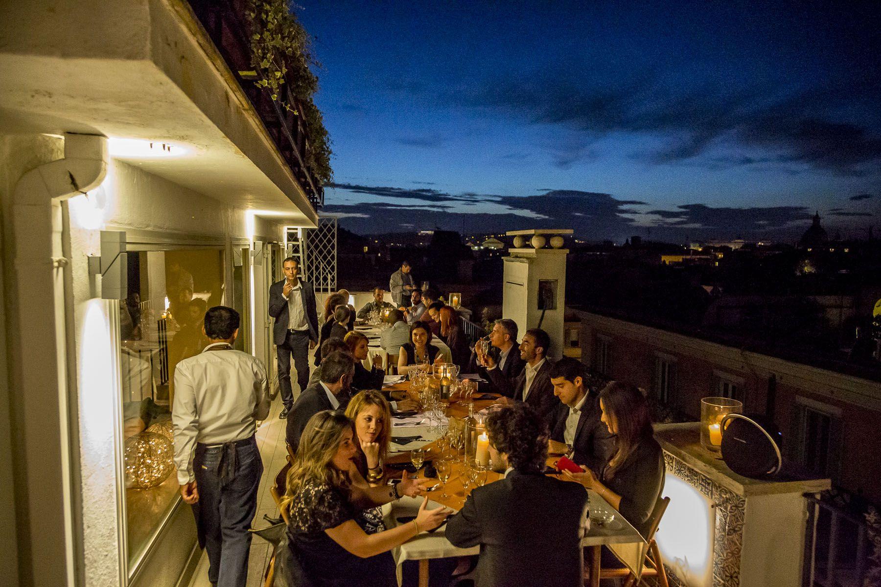 Puntarella Roof, le foto della cena in terrazza a Roma