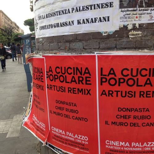 La cucina popolare questa sera con Donpasta e Chef Rubio al Nuovo Cinema Palazzo e la rosticceria siciliana da Giulio passami l'olio