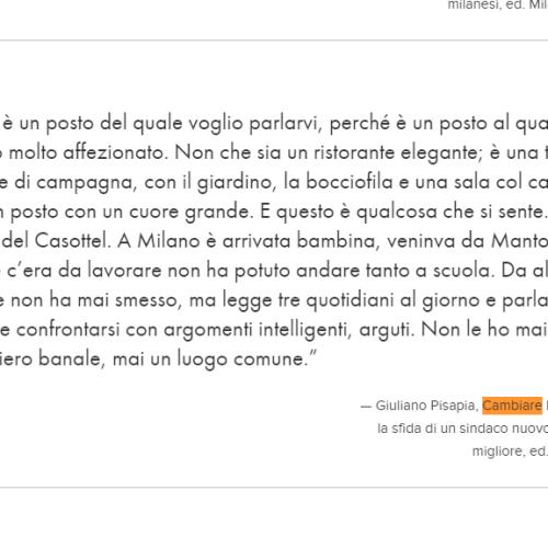 """Casottel a Milano, il preferito del sindaco Pisapia, rimproverato dalla Isa: """"Giuliano mi hai deluso"""""""