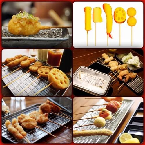 Spiedini giapponesi fritti questa sera da Settembrini Café e finger food americani da Enoteca Ferrara
