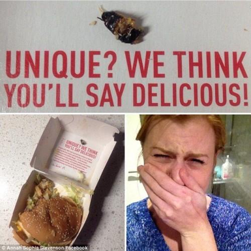 Uno scarafaggio nel Big Mac, la sorpresa dentro un panino di McDonald's
