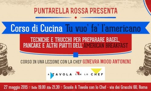 Corso di cucina americana a Roma, l'American Breakfast di Puntarella Rossa