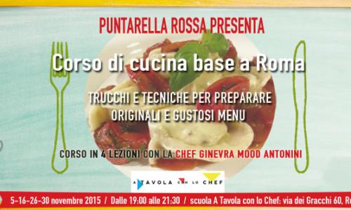 Corso cucina base Roma novembre 2015, quattro lezioni con la chef Mood Ginevra Antonini
