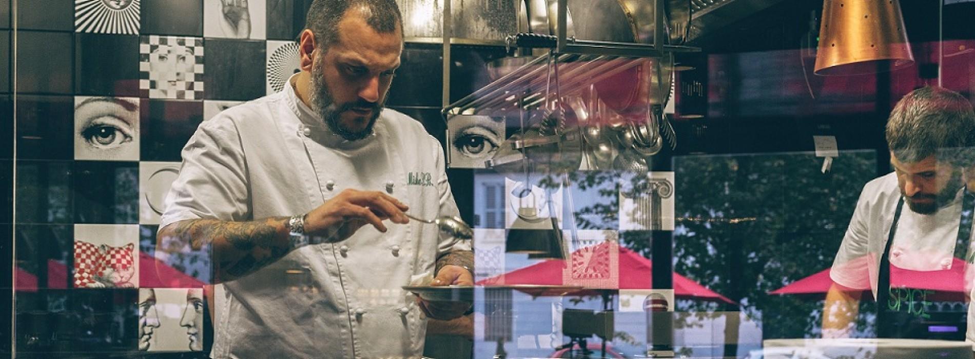 Spice Milano, Misha Sukyas propone parmigiana e champagne e fa lo chef alchimista