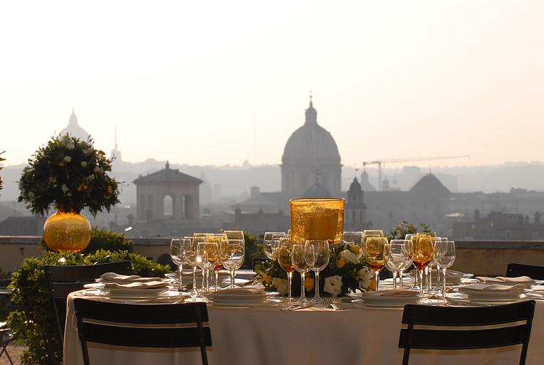 colazioni a vista roma terrazza caffarelli