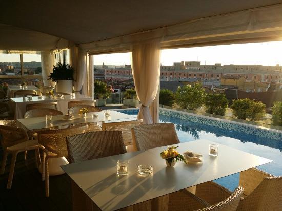 colazioni con vista roma terrace posh bar