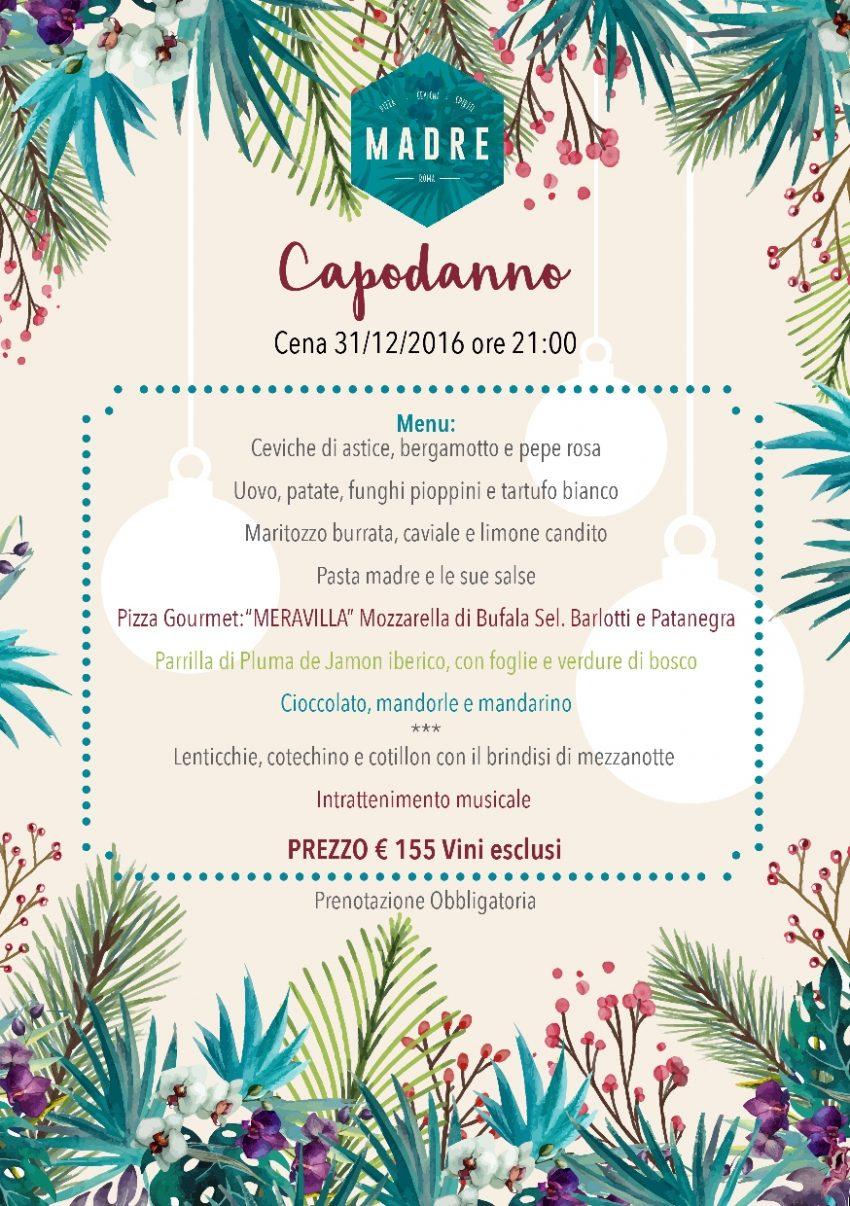 cenone capodanno 2017 roma
