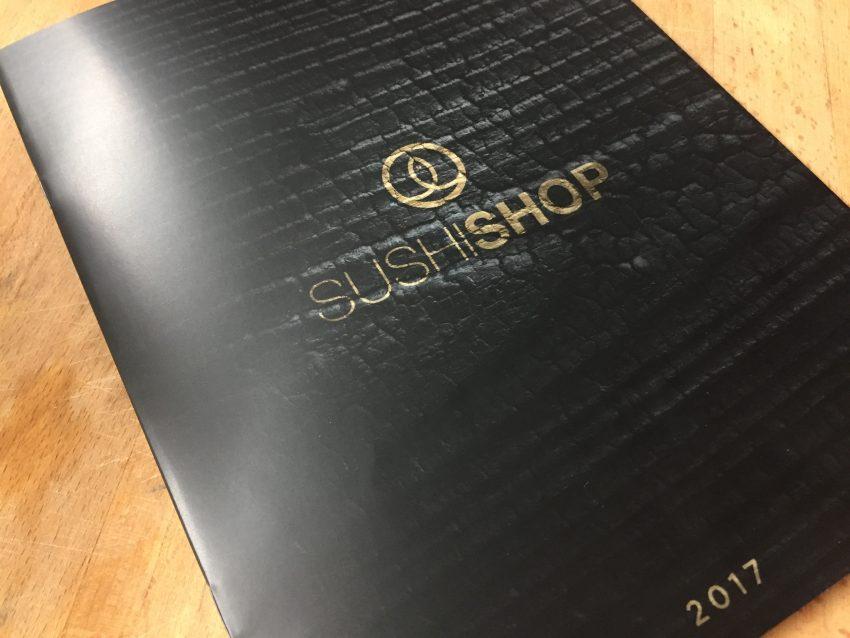 Sushi Shop menu 2017