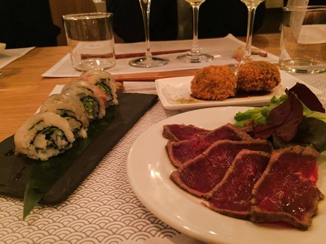 Gyu Tataki, Sawayaka roll, Unagi Onigiri Fry