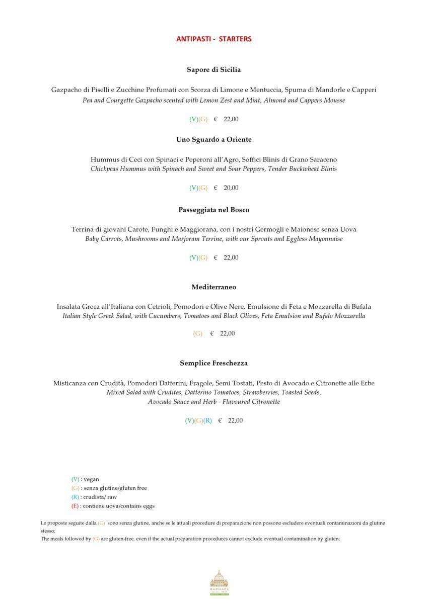 antipasti menu mater terrae