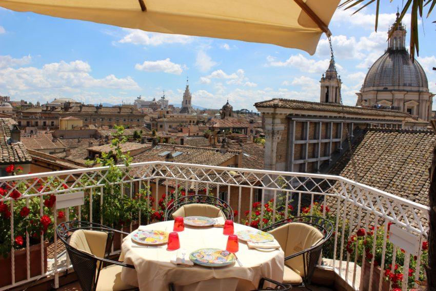 Mater Terrae Roma | Ristorante vegetariano terrazza hotel Raphael ...