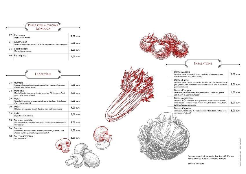 Domus Pinsa menu 2