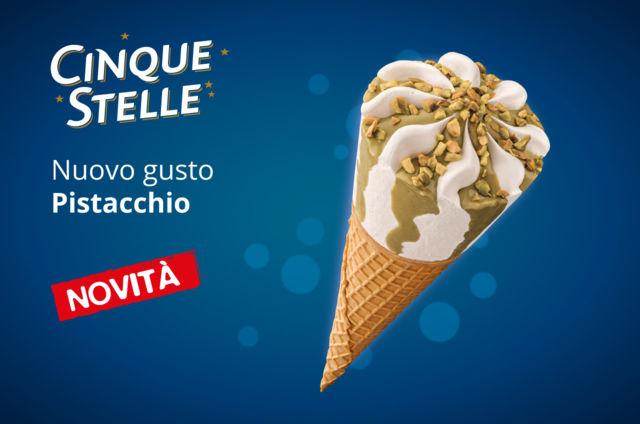 gelati confezionati estate 2017 cono cinque stelle al pistacchio