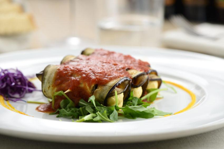 Milano, 18/05/2017 Ristorante Bio.it Chef Ersilio Montella Nella foto: INVOLTINI DI MELANZANE Ph Taddei/Edizionivero