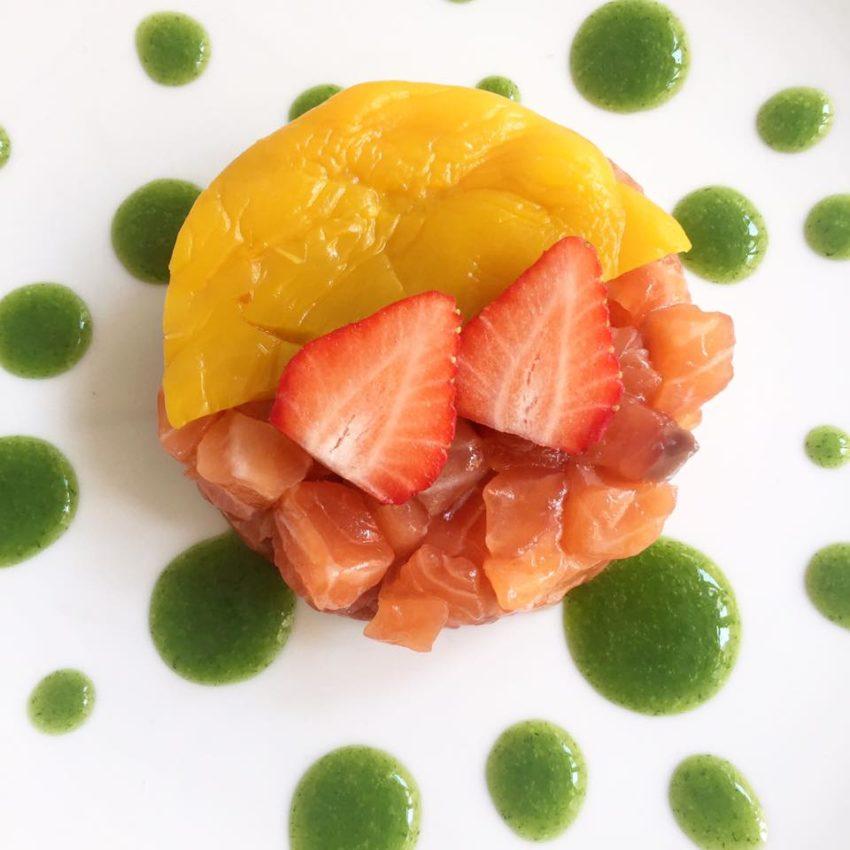 tartare salmone orto erbe cucina