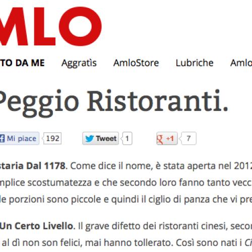 """I """"peggio ristoranti"""" (esilaranti) di Amlo"""