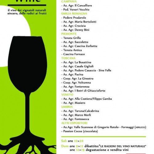 Natural Critical Wine 2013 a Roma, weekend con i vini naturali dei contadini critici