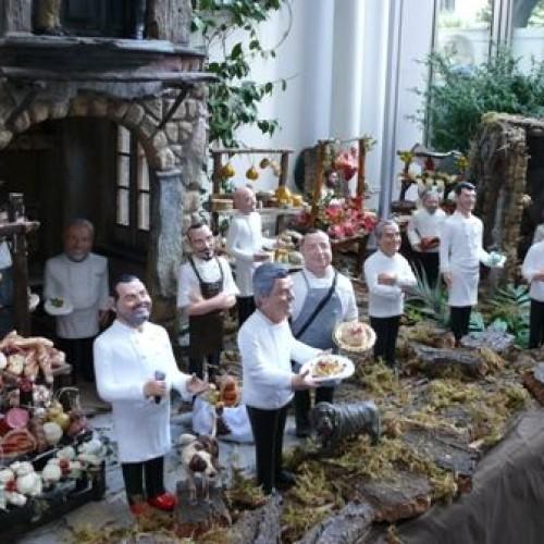 Da San Gregorio Armeno il presepe degli chef stellati (altro che calciatori, veline o GF)