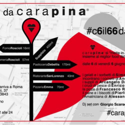 Carapina a Roma: inaugurazione street food per la gelateria di via dei Chiavari (con Dandini, De Bellis, Roscioli e tanti altri)