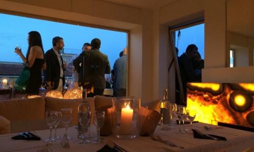 La prima cena Puntarella Roof, ostriche, pesce crudo, vino e simpatia (con tramonto)