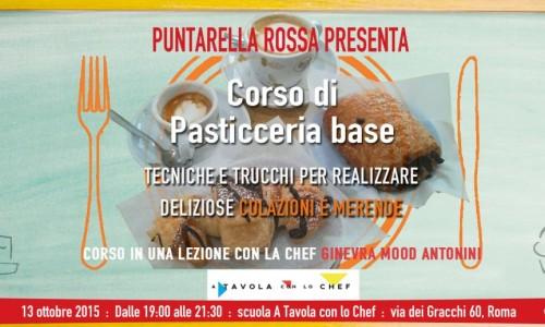 Corso di pasticceria base a Roma, il 13 ottobre colazioni e merende con Puntarella Rossa