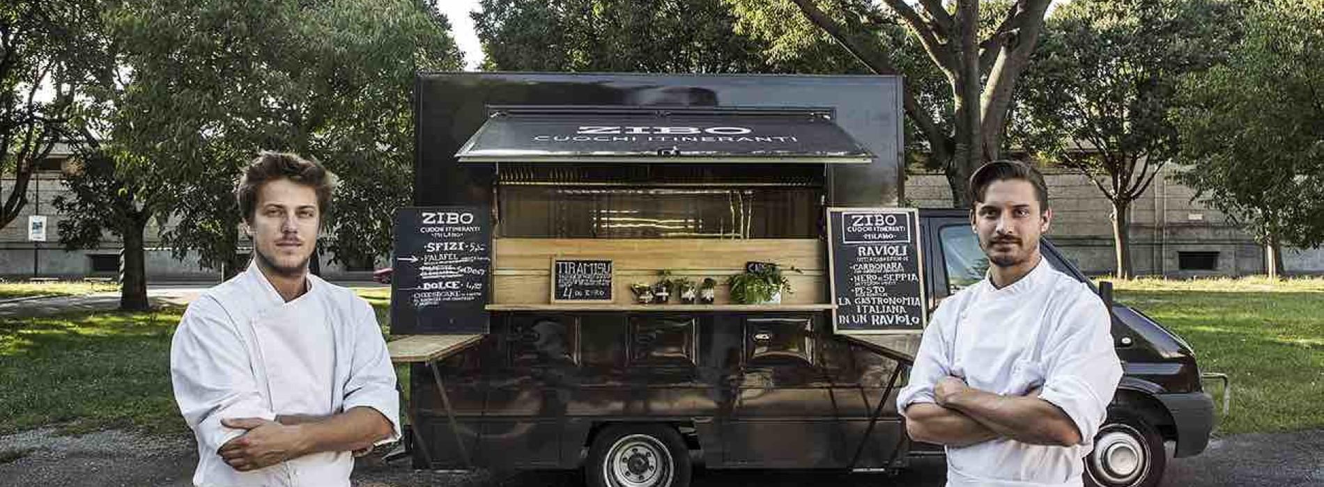 Zibo cuochi itineranti, food truck gourmet a Milano con mondeghili e ravioli alla carbonara
