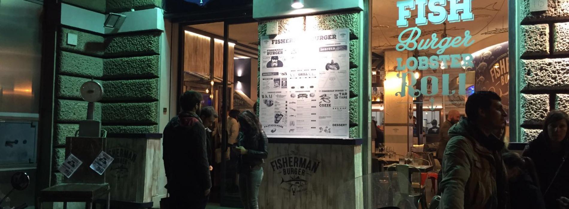 Fisherman Burger Roma, la risto-pescheria trendy che ti resta addosso