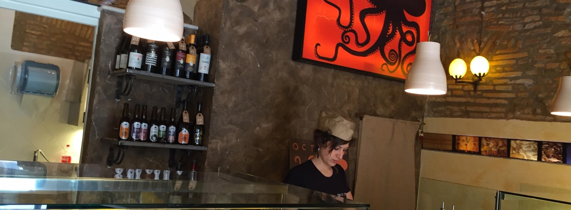 Octopus Monti a Roma, ostriche e tartare con mojito