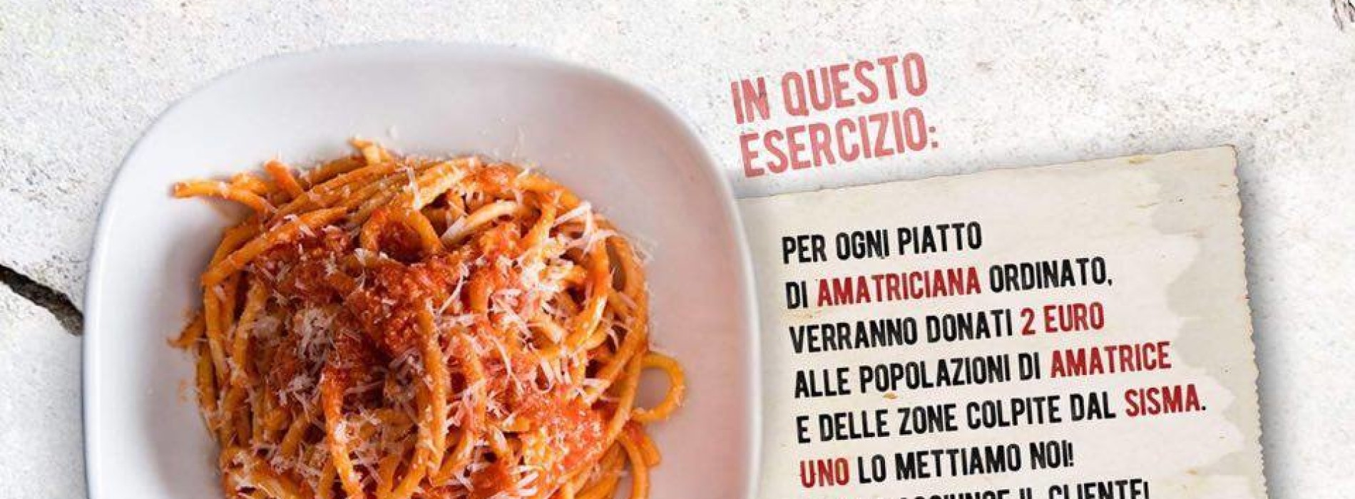 Terremoto Amatrice, la solidarietà di chef e ristoranti: due euro donati per ogni piatto di Amatriciana