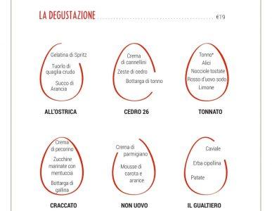Eggs Roma, il menu completo con uova e carbonara