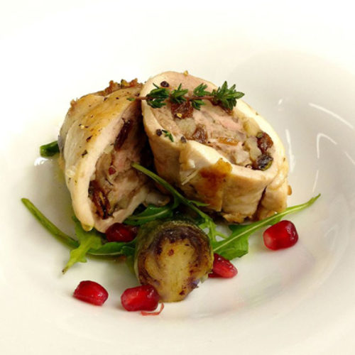 Pollo farcito con guanciale uvetta ed erbe ricetta