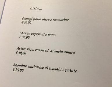 Pipero Roma, menu e prezzi del ristorante a Corso Vittorio Emanuele II