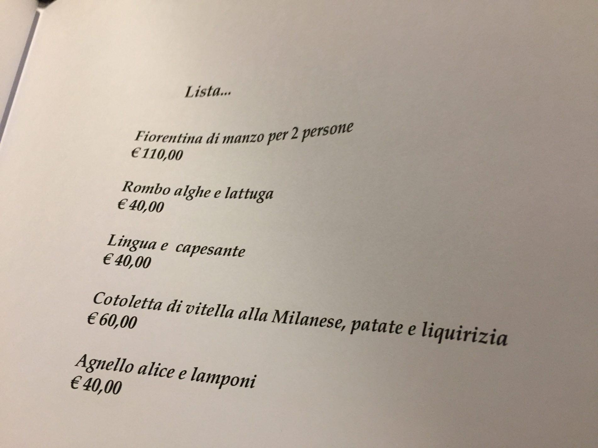 Pipero Roma Menu E Prezzi Del Ristorante A Corso Vittorio Emanuele