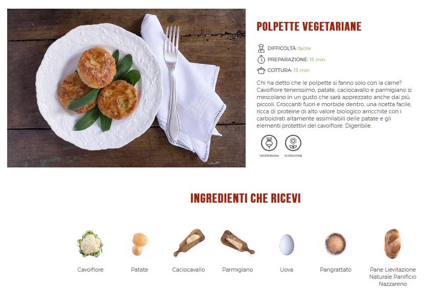 CUC. Polpette vegetariane
