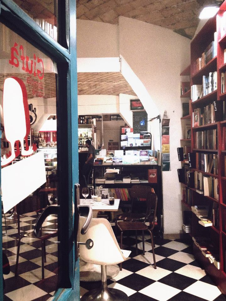 Libreria Giufà, gli interni