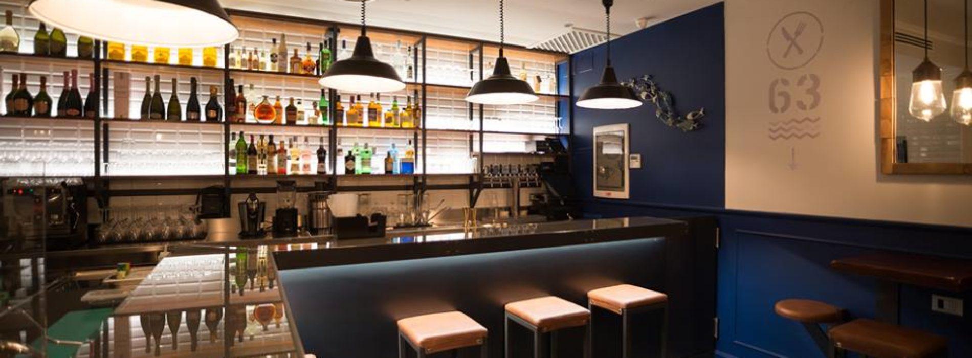 Banchina 63 Roma, fish bar con cocktail e champagne a Prati