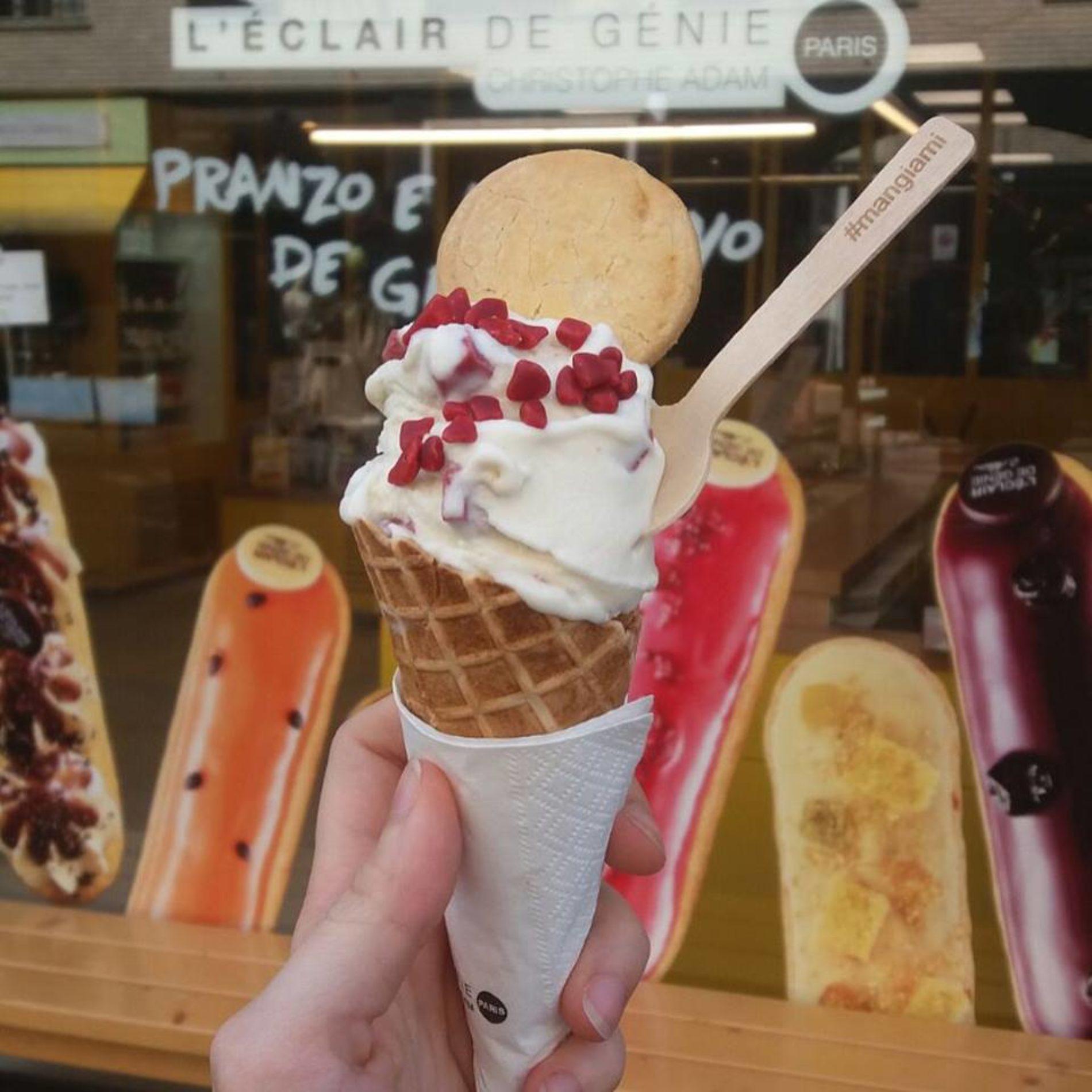 L'Eclair de Génie Milano: il gelato in coni, coppette e chouglacè per l'estate 2018