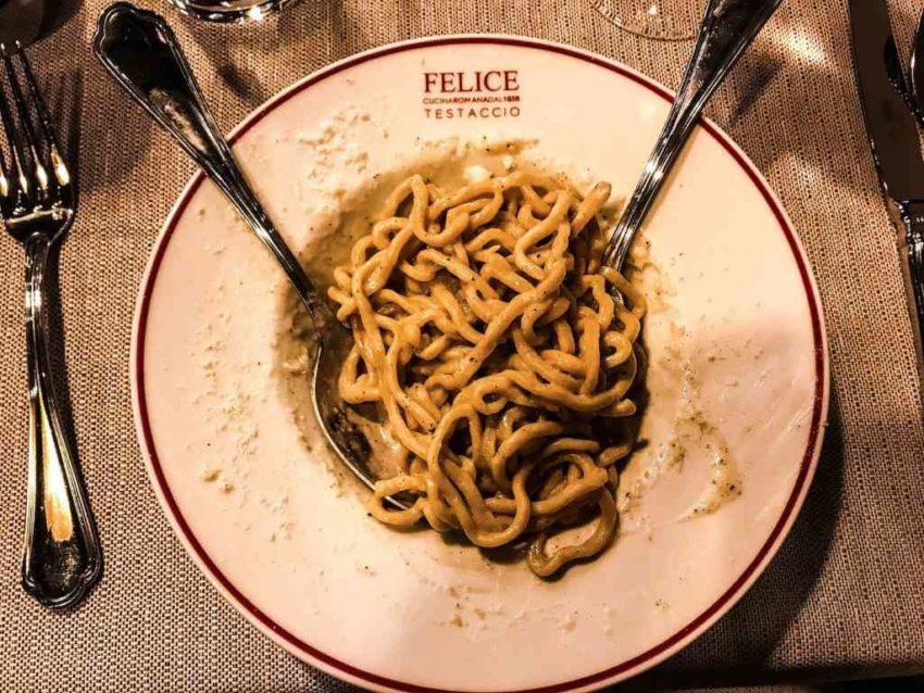 Le migliori cacio e pepe di Roma Felice