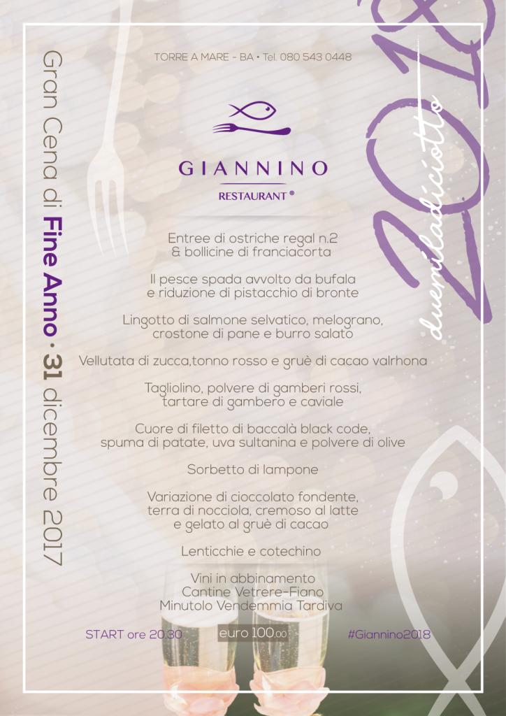 I migliori cenoni di Capodanno a Bari 2019: Giannino menu e prezzi