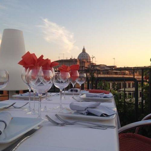 La Segreta a Roma, il ristorante della terrazza dell'Hotel Orange con vista su San Pietro