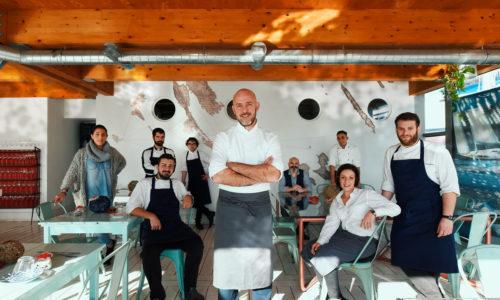 """Quarantunododici a Fiumicino, il ristorante sotto il Tino di Lele Usai: """"Basta con il polpo, passate alla polpessa"""""""