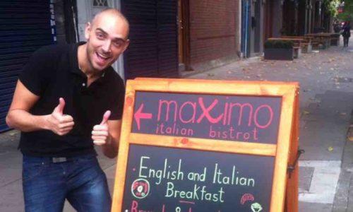 """Maximo a Londra e la disfida su Tripadvisor: """"Ti faccio vedere come mangia un italiano"""""""