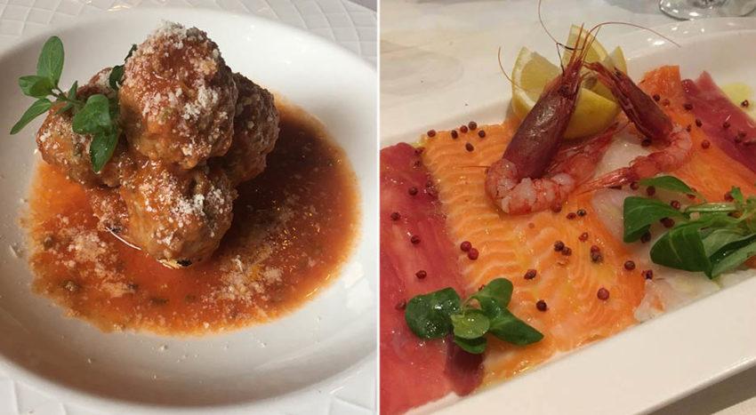 Carne e Pesce nel menu di Mamma Rosa